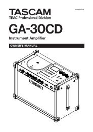 GA-30CD Owner's Manual - 2.14 MB | E_GA ... - Tascam