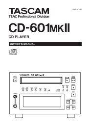 CD-601MKII_E.pdf - Tascam