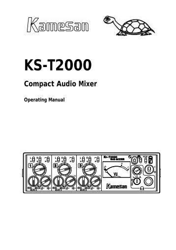 KS-T2000 Manual - TextFiles.com