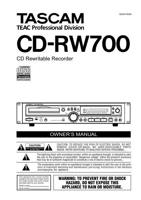 CD-RW700 - TextFiles.com