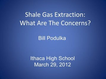 Shale Gas Extraction: What Are The Concerns?