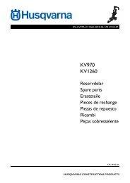 IPL, KV970, KV1260, KV 970, KV 1260, 2010-03 - Husqvarna ...