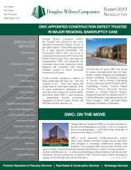 Douglas Wilson Companies' Summer 2013 Newsletter