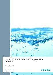 Wallace & Tiernan® Uv-Desinfektionsgerät DVGW Barrier M - Firma