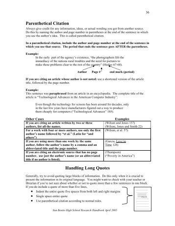 Mla parenthetical citation powerpoint