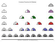 Common Fractions for Radians - Math!
