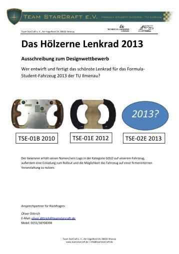 Das Hölzerne Lenkrad 2013 2013? - Team StarCraft