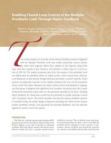 Enabling Closed-Loop Control of the Modular Prosthetic Limb ...