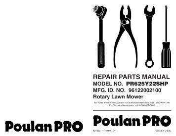 ipl, poulan pro, pr160y21rdp, 2009-01, 426822, 96142005501, us