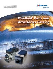 BlueHeat Installation Parts Manual - Techwebasto.com