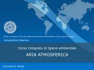 2_aria atmosferica - Corso di laurea in tecniche della prevenzione ...