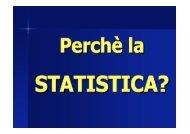 elementi di statistica - Corso di laurea in tecniche della prevenzione ...