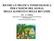igiene ambientale_tossicologia - Corso di laurea in tecniche della ...