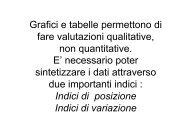elementi di statistica 2 - Corso di laurea in tecniche della ...
