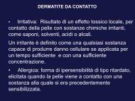dermatite da contatto 2012 - Corso di laurea in tecniche della ...