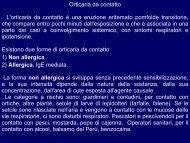 orticaria angioedema lattice 2012 - Corso di laurea in tecniche della ...