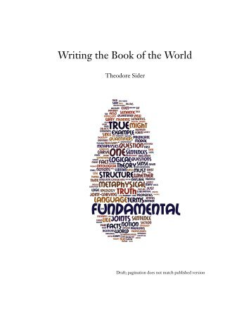 Writing the Book of the World - Ted Sider