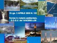 D.Lgs 152/06 Norme in materia Ambientale - Corso di laurea in ...