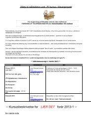 Kursusbeskrivelse for LÆR DET forår 2013-1 - Telepensionister