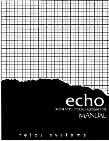 Telos Echo User's Manual