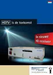is de toekomst HDTV - ten Haaft GmbH