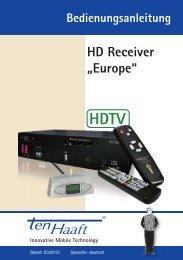 HD Receiver Europe (Stand: 03/2013   509 KB) - ten Haaft GmbH