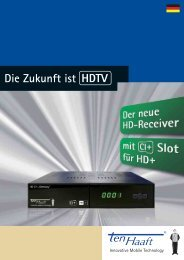 Flyer HD-Receiver CI+ Germany - Stand: 03/2013 - ten Haaft GmbH