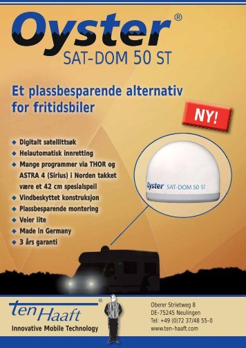 Oyster SAT-DOM 50 ST.pdf - Version: 08/2010 - ten Haaft GmbH