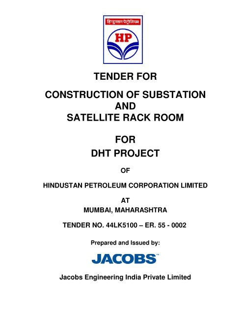 tender for construction of substation and satellite rack room for