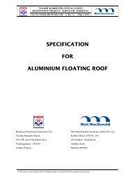 specification for aluminium floating roof - Hindustan Petroleum ...