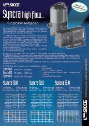 SICCE Flyer Syncra HF - aQua united GmbH