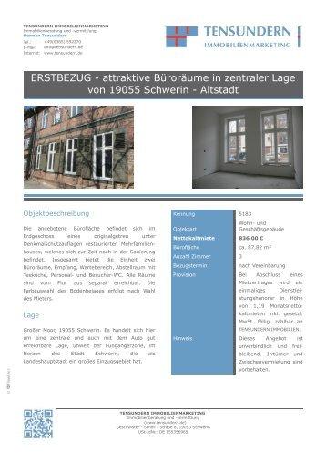 attraktive Büroräume in zentraler Lage von 19055 Schwerin - Altstadt