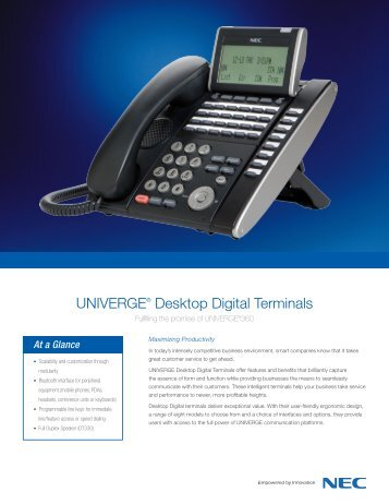 UNIVERGE Digital Phone - NEC Corporation (Thailand)