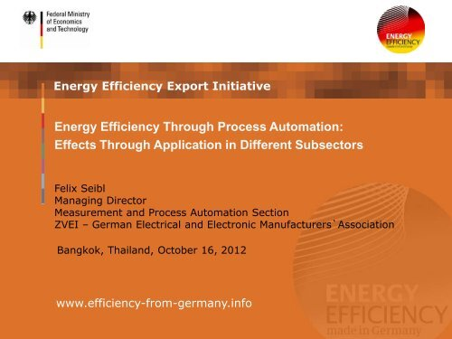 Energy Efficiency Through Process Automation: Effects Through ...