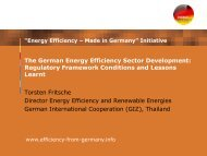The German Energy Efficiency Sector Development