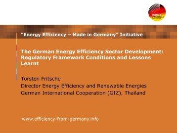 The German Energy Efficiency Sector Development
