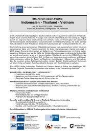 Indonesien - Thailand - Vietnam - Deutsch-Thailändische ...