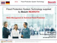 Flood Protection System Technology supplied by Bosch REXROTH