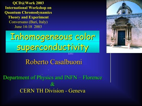 L - Florence Theory Group - Infn