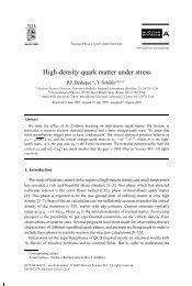 High-density quark matter under stress