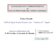 Presentazione di PowerPoint - Florence Theory Group - Infn