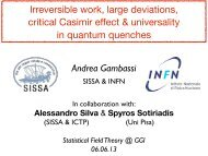 Irreversible work, large deviations, critical Casimir effect ... - Infn
