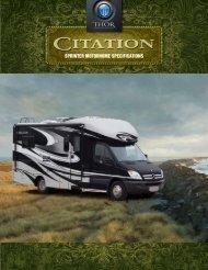 2012 Citation Sprinter Motorhome   Class B+ ... - Thor Motor Coach