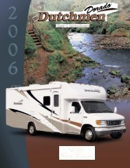 2006 Dutchmen Dorado Motorhome by Four ... - Thor Motor Coach