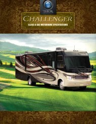 Class-a Gas MotorhoMe Specifications - Thor Motor Coach
