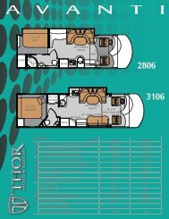 2012 Avanti Motorhome by Thor Motor Coach | PDF Sales Literature