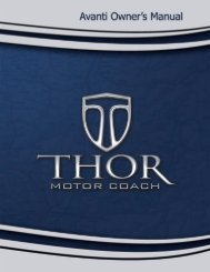 Avanti Motorhome Owner's Manual (Thor Motor Coach)