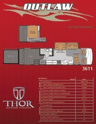 Toy Hauler Motorhome - Thor Motor Coach