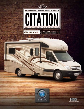 2013 Citation Motorhomes / Class C Diesel RV ... - Thor Motor Coach