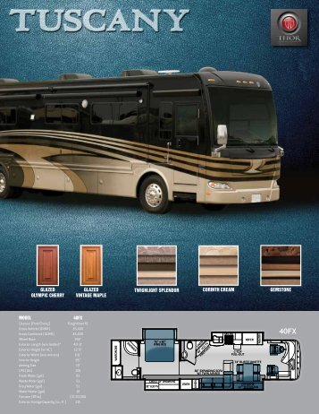 Download the 2013 Tuscany 40FX Flyer - Thor Motor Coach